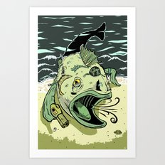 Something Fishy this way Comes Art Print