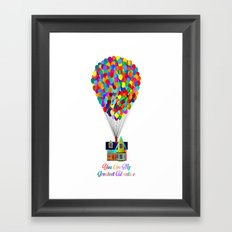 Up! You Are My Greatest Adventure Framed Art Print