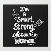 Smart, Strong, Sensual Woman - Tina Belcher Canvas Print
