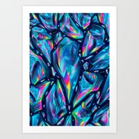 Neon Diamonds Art Print