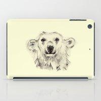 Polar Bear Smiling Black… iPad Case