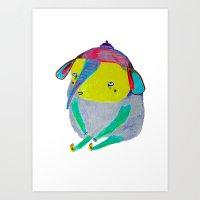 Baby Elephant. elephant art, elephant illustration, cute, kids, nature, animals,  Art Print