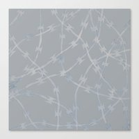Trapped Grey Canvas Print