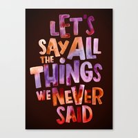 All The Things Canvas Print