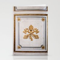 Vatican Wood Door, Italy Stationery Cards