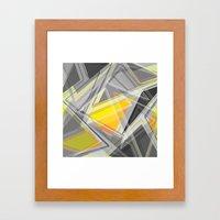 ∆Yellow Framed Art Print