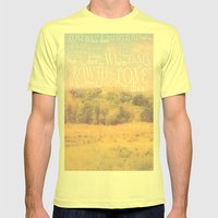 Love Dies  Mens Fitted Tee Lemon SMALL