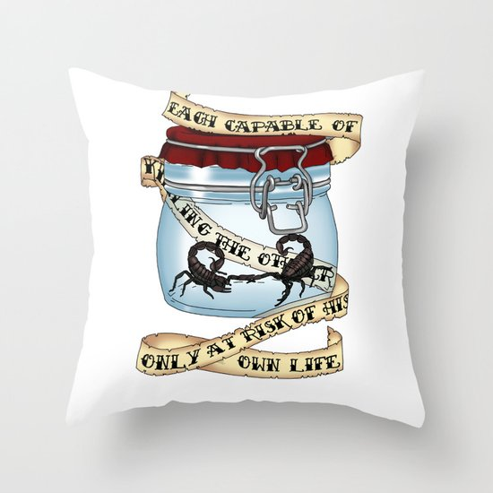 Father of the atom bomb Throw Pillow