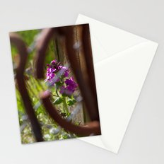 Iron and Purple Flowers Stationery Cards
