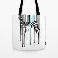 Raining zebra Tote Bag