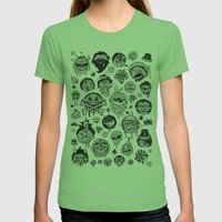 Characters Womens Fitted Tee Grass SMALL