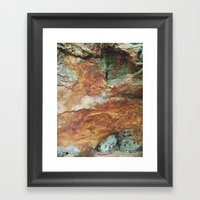 Rock Wall, Red River Gorge Framed Art Print