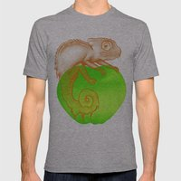 Caramel Chameleon Mens Fitted Tee Athletic Grey SMALL