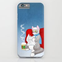iPhone & iPod Case featuring Hipster Kitty by Maggie Davidson