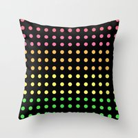 Sugar Dots (black) Throw Pillow