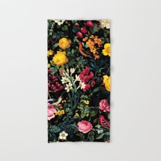 Floral and Birds Pattern Hand & Bath Towel