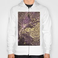 Purple Leaves In Melted … Hoody