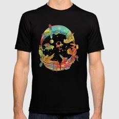 Depth of Discovery (A Case of Constant Curiosity) SMALL Black Mens Fitted Tee
