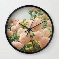 Puffy flowers! Wall Clock
