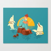 Sonnofabitch, I'm sick of these dolphins Canvas Print