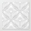 Black Lines Canvas Print