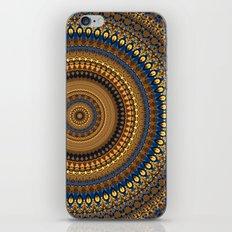 Blue/Gold Mandala iPhone & iPod Skin