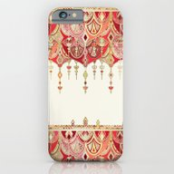 Royal Red Art Deco Doubl… iPhone 6 Slim Case