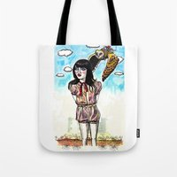 Owl Messenger Tote Bag