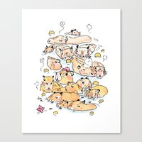 Wild family series - Capybara Canvas Print