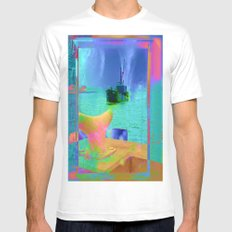 View of The Lady In Waiting Mens Fitted Tee White SMALL