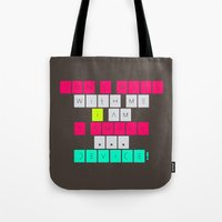 Tote Bag featuring Don't mess with I am a smart device! by Inspire me Print