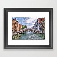 Under The Bridges Of Ven… Framed Art Print
