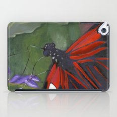 Red and Black Butterfly iPad Case