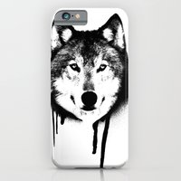 Wolf spray paint iPhone 6 Slim Case