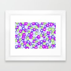 Morning Glory - Violet Multi Framed Art Print