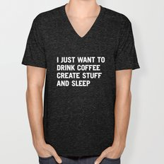 I Just Want To Drink Cof… Unisex V-Neck