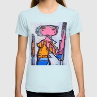 Lizard Lady Womens Fitted Tee Light Blue SMALL