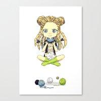 Knitting Meditation Canvas Print
