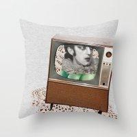 A antirosa atômica Throw Pillow