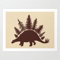 Stegoforest  Art Print