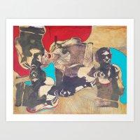 silkscreen test sheet Art Print
