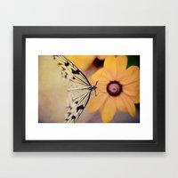 {Gentle Visitor} Framed Art Print