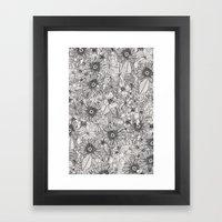 pencil flowers Framed Art Print
