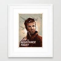 Join The Resistance Toda… Framed Art Print