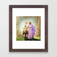 Momma Kitty Loves Her Ki… Framed Art Print
