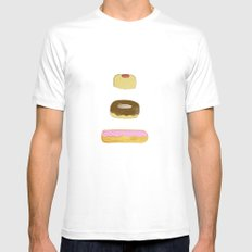 Glass Case Mens Fitted Tee SMALL White