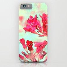 summer pink flowers. botanical art.  floral photo art. Slim Case iPhone 6s
