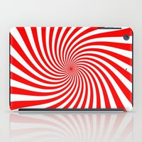 Swirl (Red/White) iPad Case