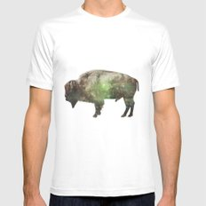 Surreal Buffalo White Mens Fitted Tee SMALL