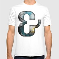 Ampersand Series - Silom Typeface Mens Fitted Tee White SMALL